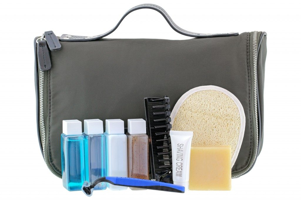 Toiletries with pouch