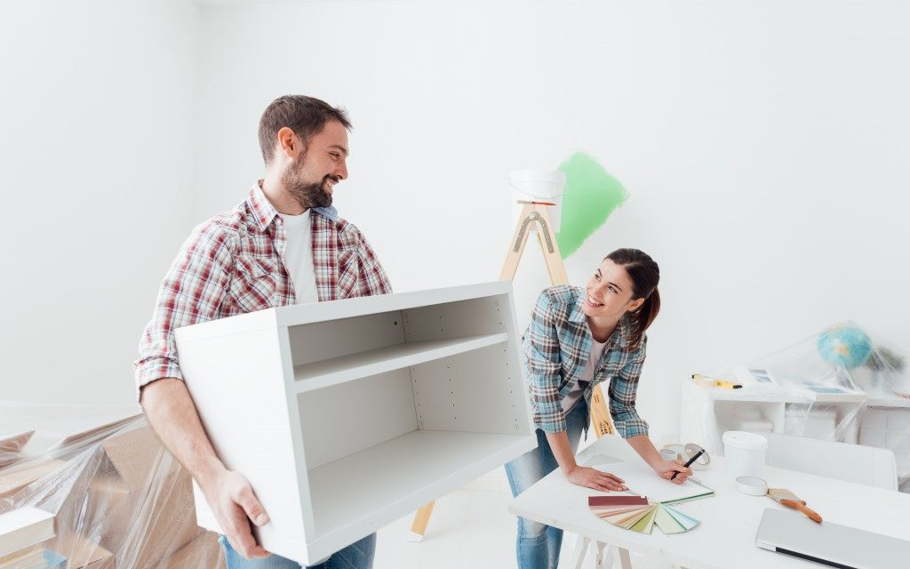 Couple designing their home