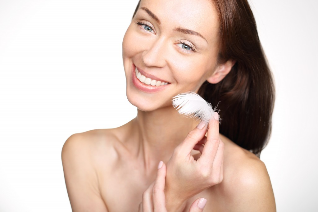 woman with fresh, smooth skin