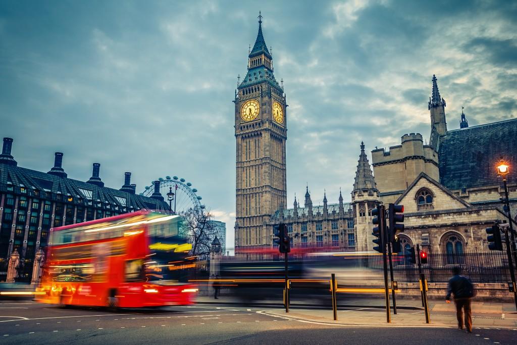 Double-decker bus in London