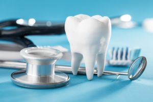 Tooth model and dental tools