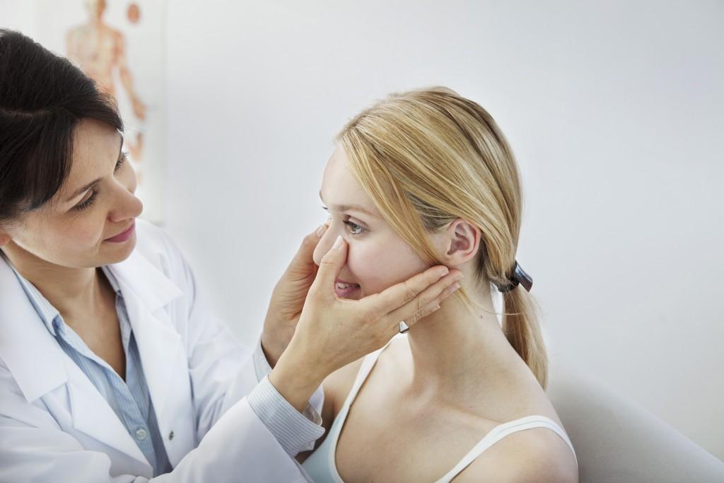 woman having a check up