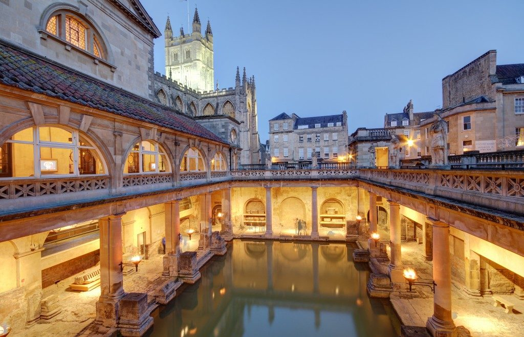 Old roman baths at Bath, England