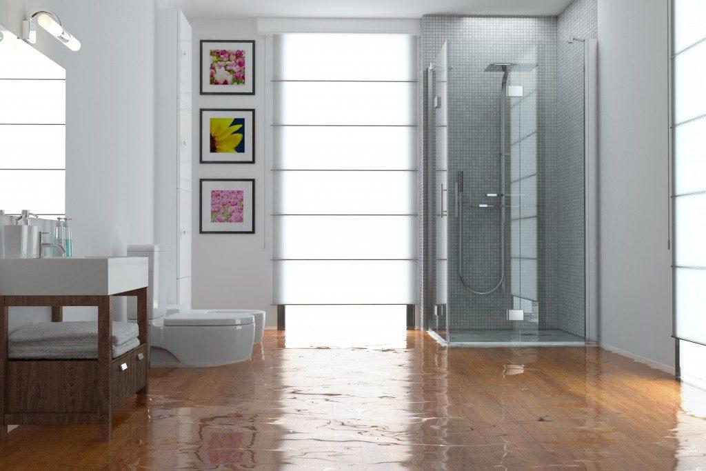 huge flood in the bathroom
