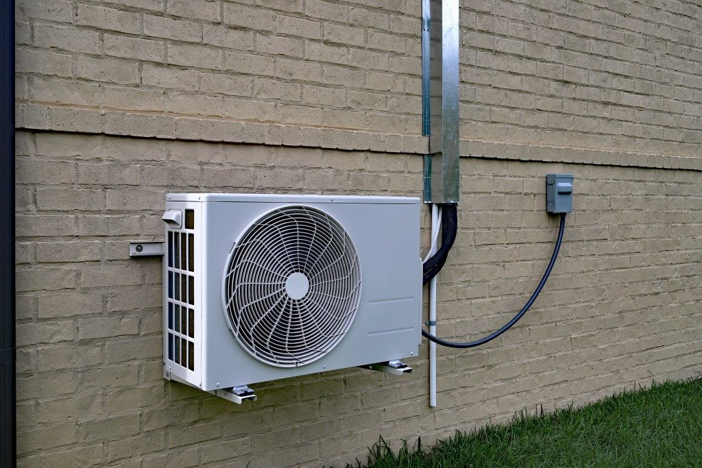 Back of air condition unit