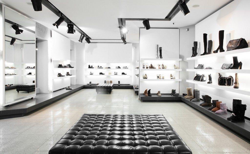 empty shoe store